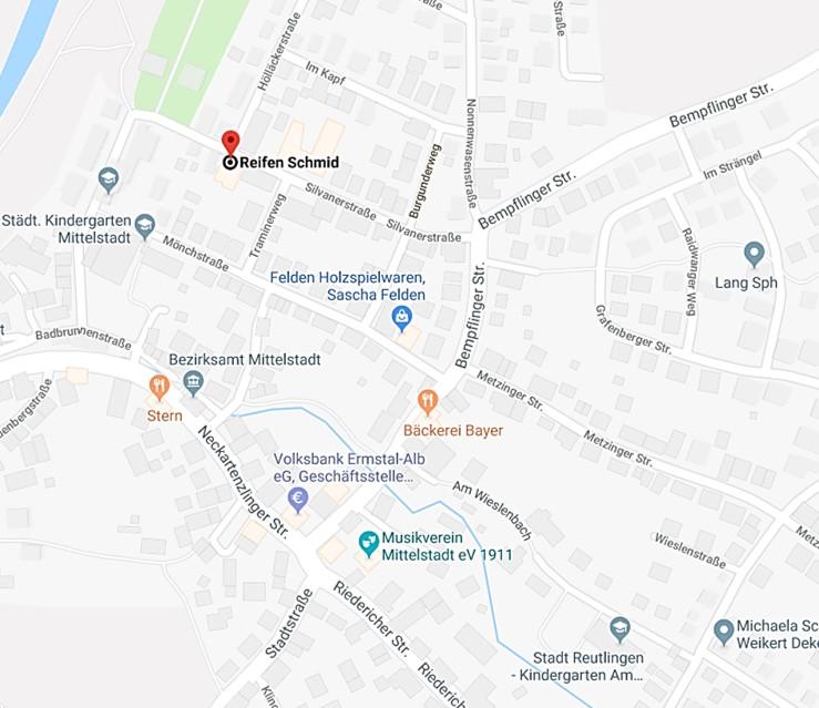 Google Maps Reifen Schmid, RS-Team ist Ihr Spezialist vor Ort!