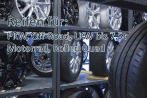 Reifen für PKW – Offroad – LKW bis 7,5t – Motorrad – Roller – Quad - Reifen Schmid RS-Team in Mittelstadt Reutlingen