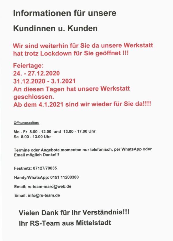 Reifen Schmid Auto-Werkstatt Mittelstadt geöffnet